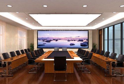 山东某公司会议室LED全彩屏效果图