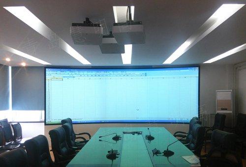 青岛某研究所会议室LED显示屏