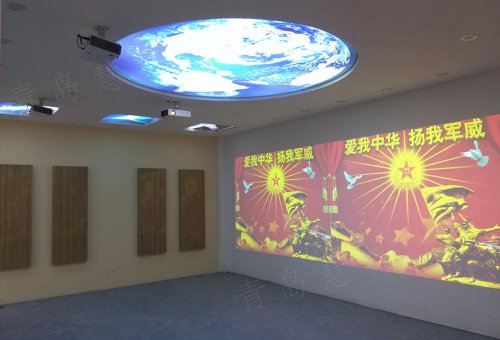 青岛某部队LED显示屏展厅