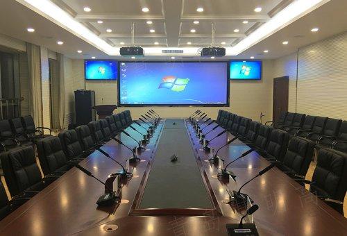 青岛某部队会议室LED显示屏